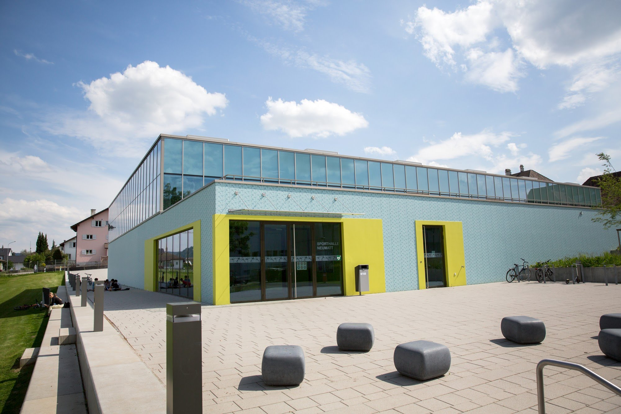 Industrie / Gewerbebau,Gipserarbeiten,Öffentliche Bauten Sporthalle Neumatt