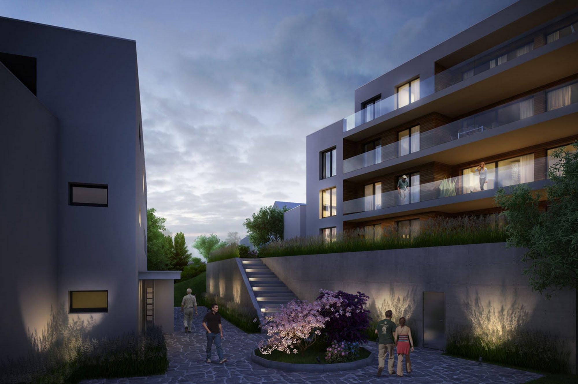 Wohnen MFH 2 MFH in Schenkon Architektur,Wohnungsbau,Wohnhäuser,Einfamilienhäuser,Mehrfamilienhäuser