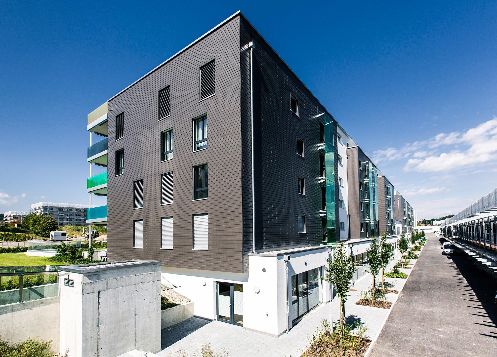 Öffentlich,Wohnen MFH,Gewerbe Wohn- und Geschäftshaus mit P+R-System Architektur,Wohnungsbau,Wohnhäuser,Einfamilienhäuser,Mehrfamilienhäuser