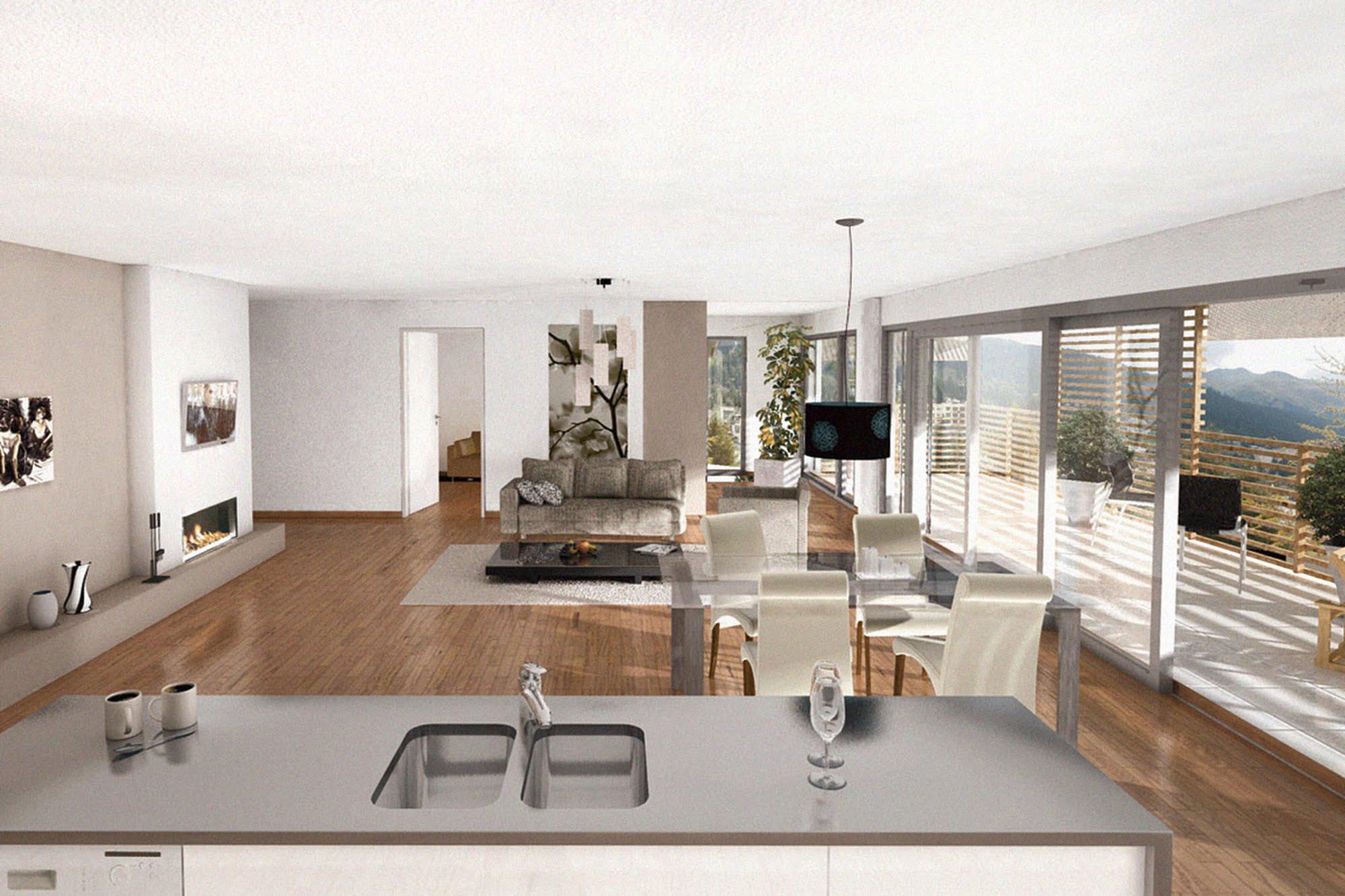 Wohnen MFH 4 MFH Mühlehof in Davos Architektur,Wohnungsbau,Wohnhäuser,Einfamilienhäuser,Mehrfamilienhäuser