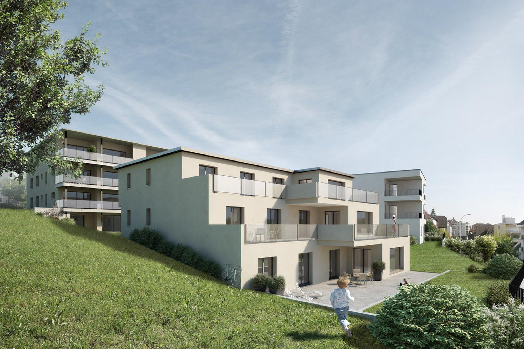 Wohnen MFH Überbauung Erlenstar Architektur,Wohnungsbau,Wohnhäuser,Einfamilienhäuser,Mehrfamilienhäuser