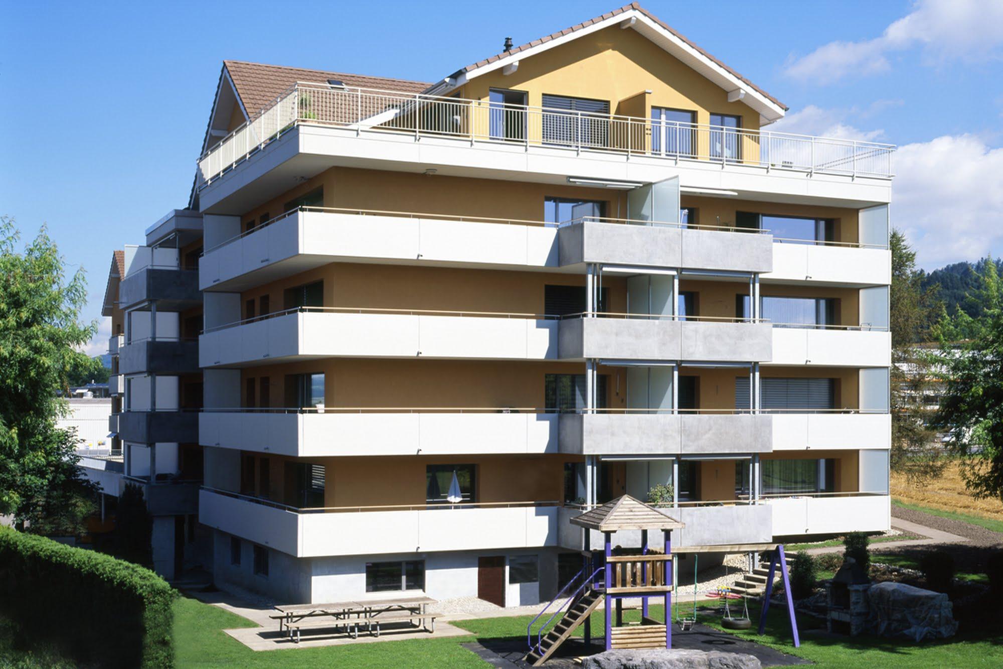 Wohnen MFH Sanierung von drei MFH in Schenkon Architektur,Wohnungsbau,Wohnhäuser,Einfamilienhäuser,Mehrfamilienhäuser