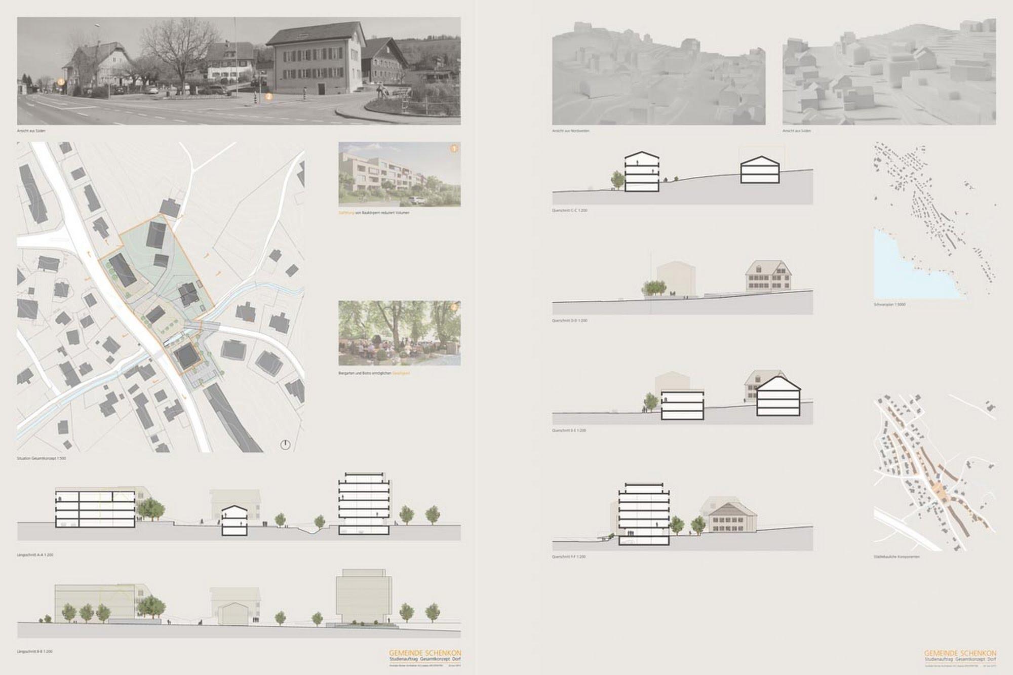 Öffentlich,Wohnen MFH Wettbewerb Gesamtkonzept Dorf Schenkon Architektur,Wohnungsbau,Wohnhäuser,Einfamilienhäuser,Mehrfamilienhäuser