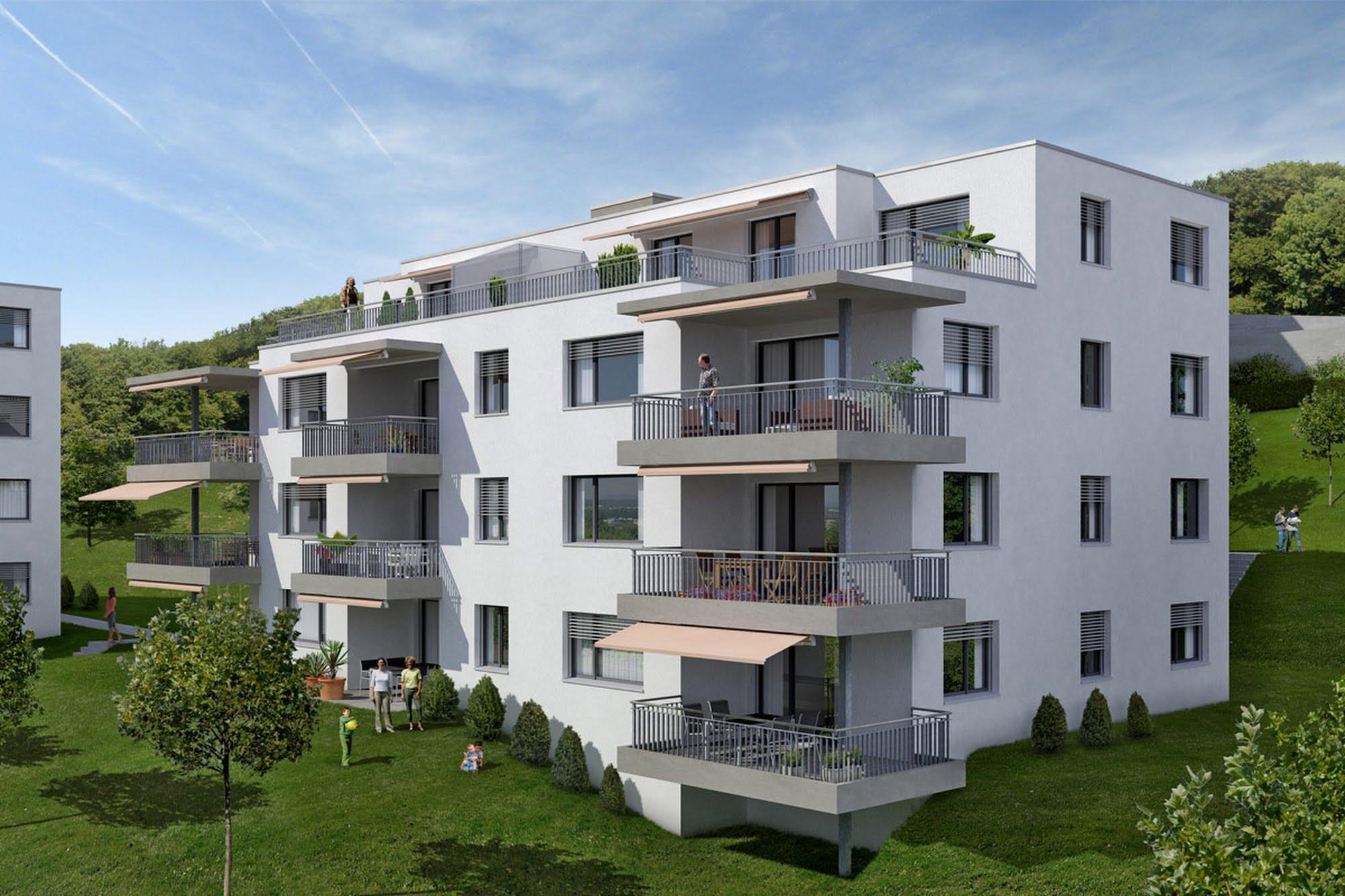 Wohnen MFH Fünf MFH in Liestal Architektur,Wohnungsbau,Wohnhäuser,Einfamilienhäuser,Mehrfamilienhäuser