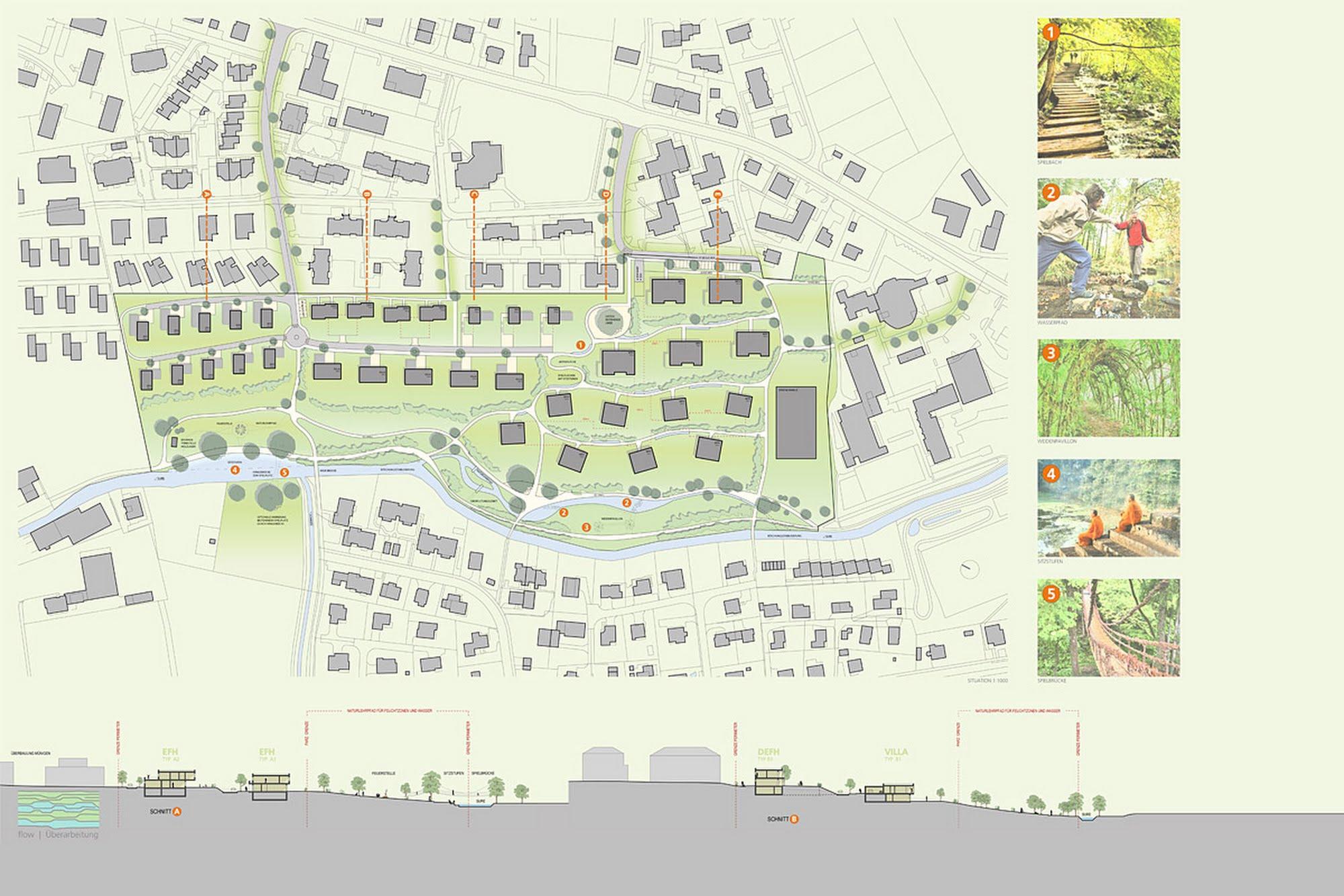 Wohnen MFH,Wohnen EFH Wettbewerb Surenweidpark Architektur,Wohnungsbau,Wohnhäuser,Einfamilienhäuser,Mehrfamilienhäuser