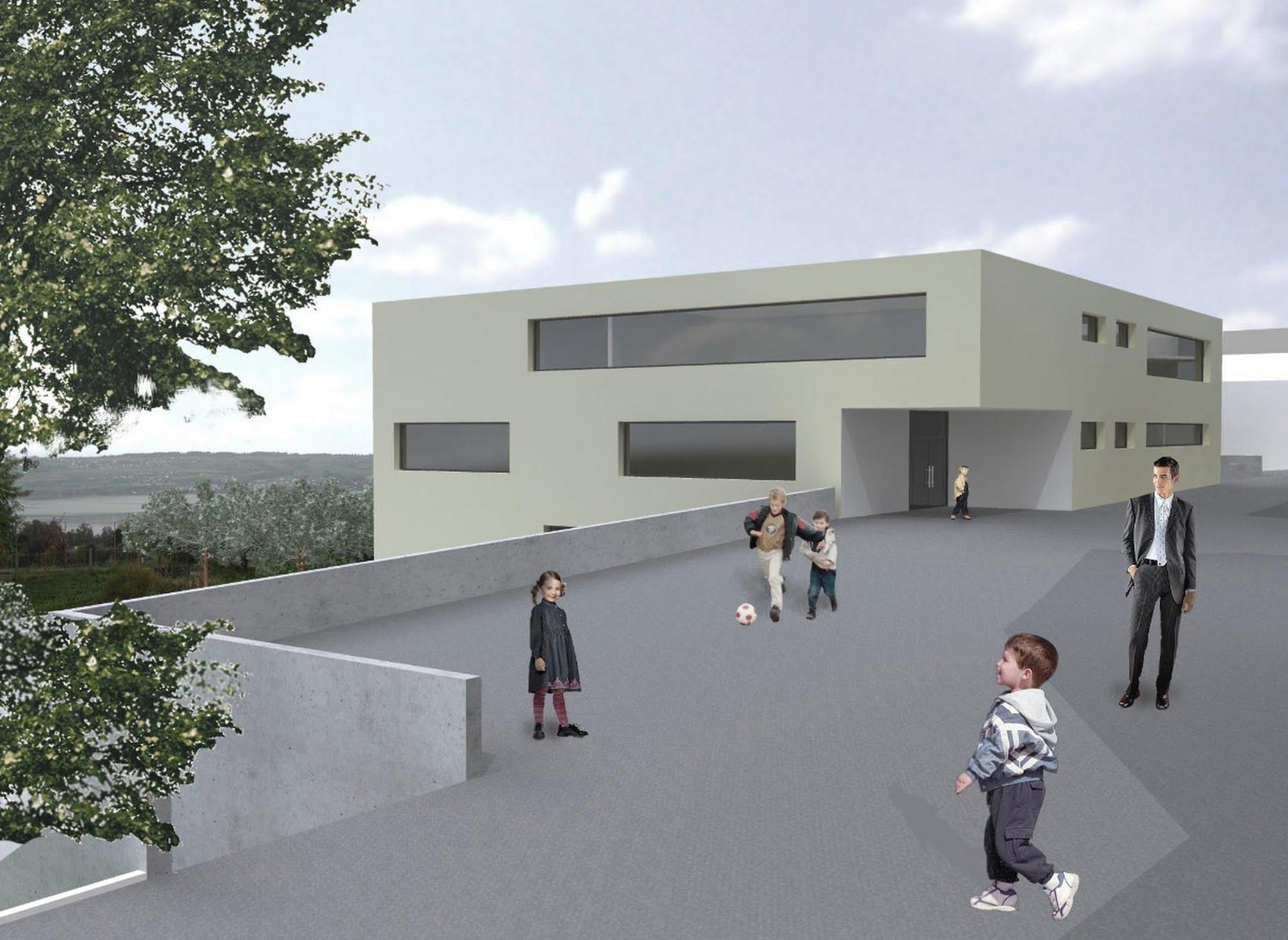 Öffentlich Wettbewerb Schulhaus Nottwil Architektur,Wohnungsbau,Wohnhäuser,Einfamilienhäuser,Mehrfamilienhäuser