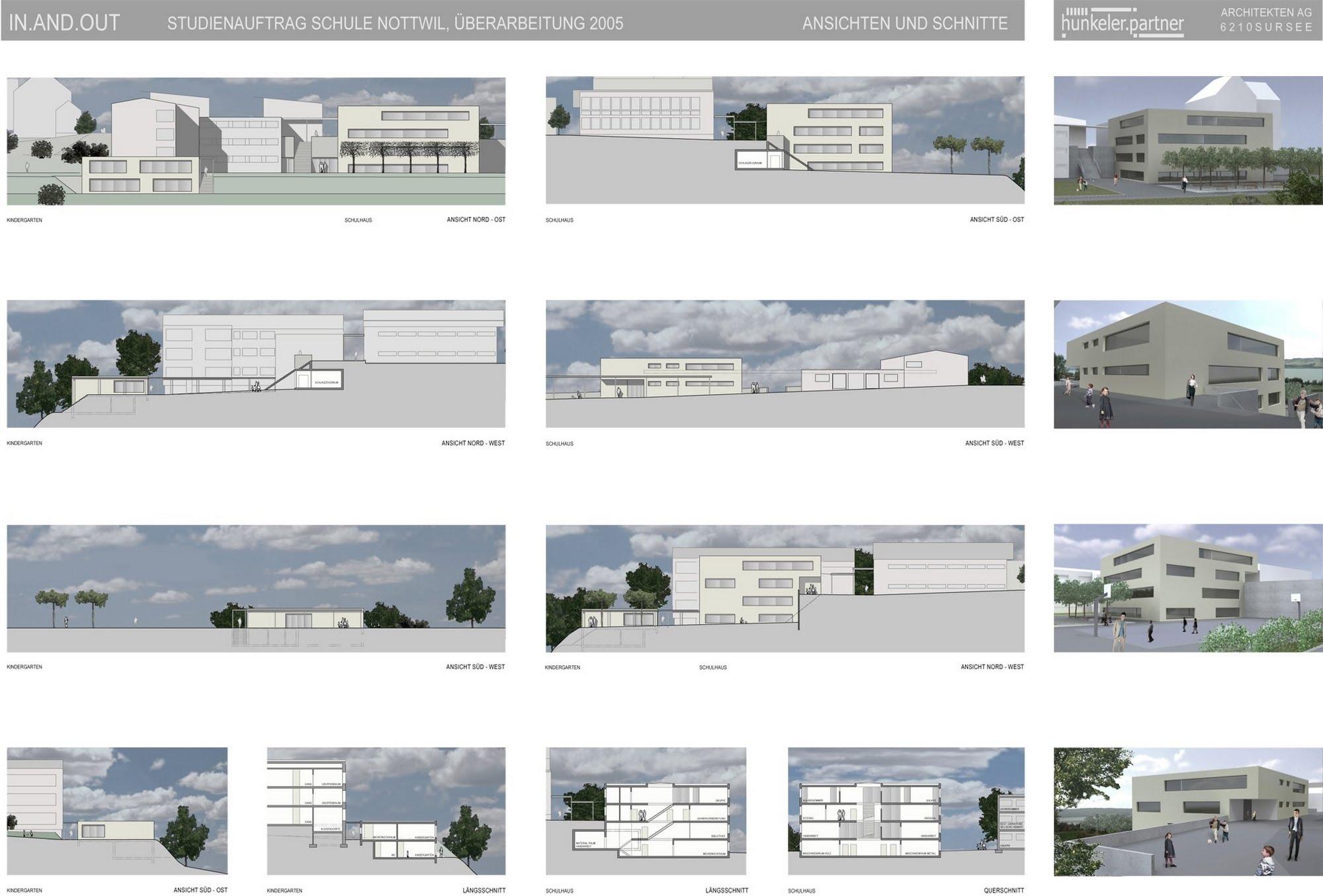 Öffentlich 1.Preis Wettbewerb Schulhaus Nottwil Architektur,Wohnungsbau,Wohnhäuser,Einfamilienhäuser,Mehrfamilienhäuser