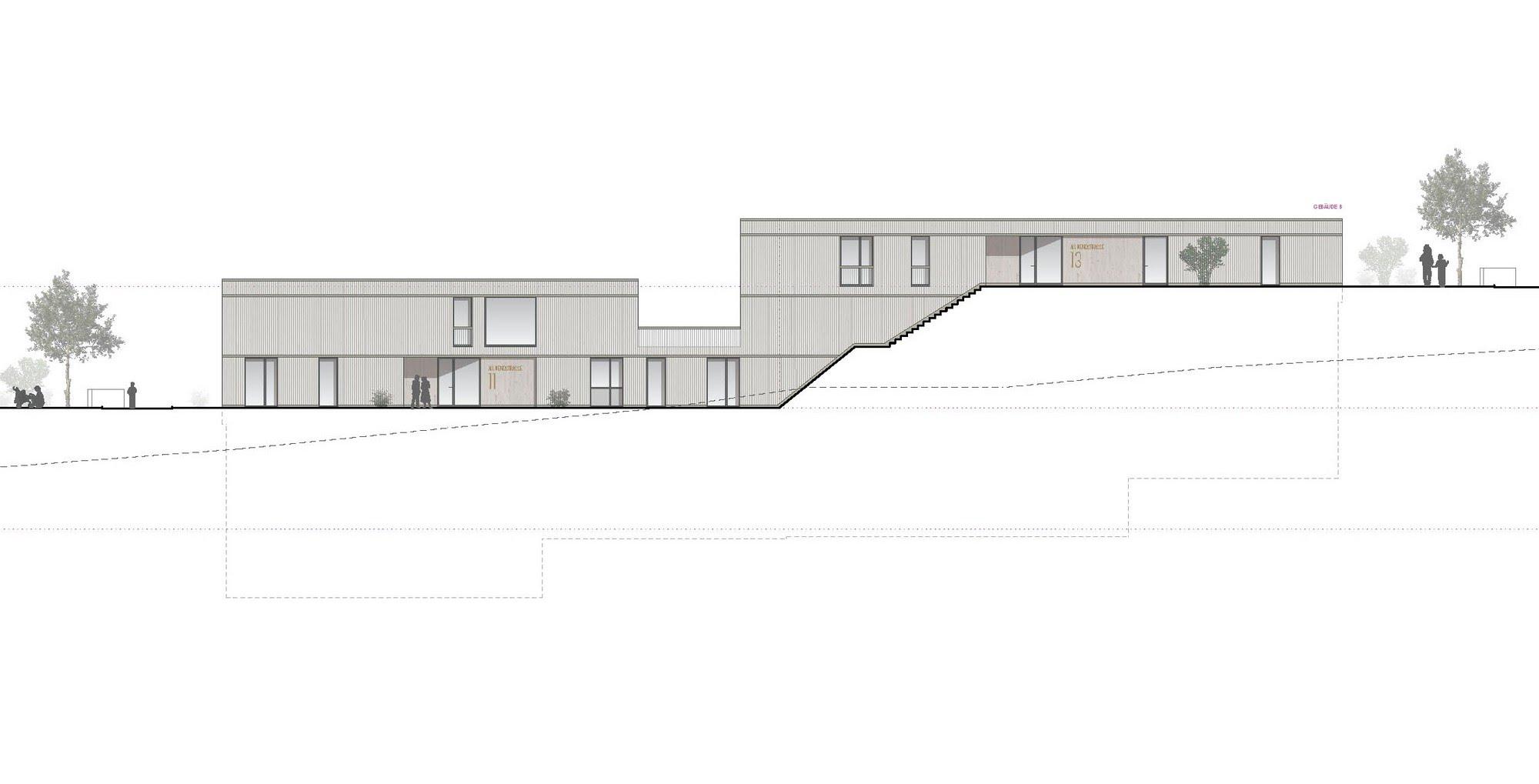 Wohnen MFH Wettbewerb Allmendstrasse in Egolzwil Architektur,Wohnungsbau,Wohnhäuser,Einfamilienhäuser,Mehrfamilienhäuser
