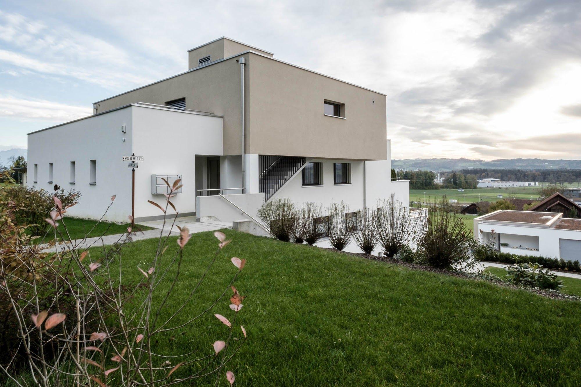 Wohnen MFH,Wohnen EFH Überbauung Feld Architektur,Wohnungsbau,Wohnhäuser,Einfamilienhäuser,Mehrfamilienhäuser