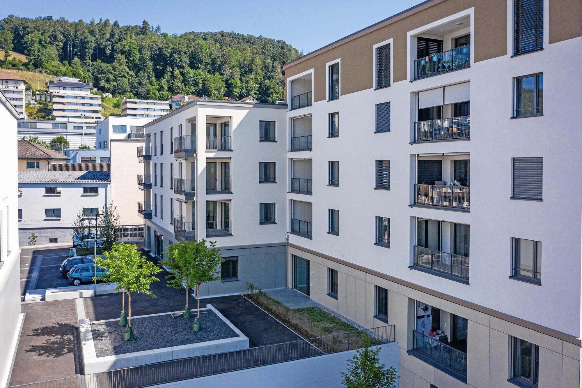 Wohnen MFH,Gewerbe Überbauung Glasi in Wauwil Architektur,Wohnungsbau,Wohnhäuser,Einfamilienhäuser,Mehrfamilienhäuser