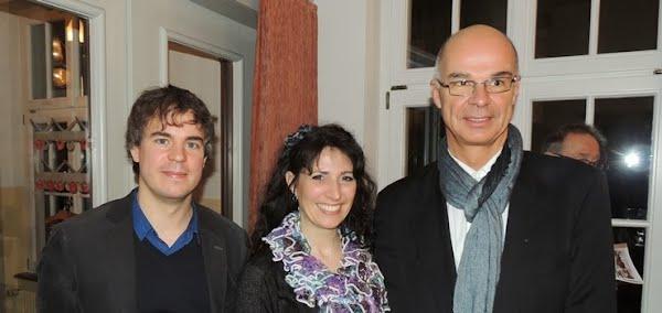 Andreas Felber (Dirigent Anything Goes), Irène Straub & Andreas Härri (beide Le Théâtre Kriens)