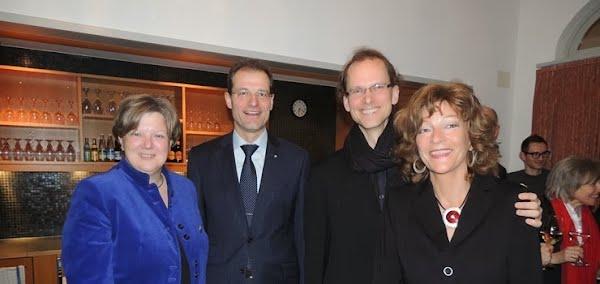 Isabelle Chassot (Direktorin Bundesamt für Kultur), Reto Wyss (Regierungsrat), André Briel (Inspizient Anything Goes), Isabelle Ruf (Direktorin Stadtheater Sursee)