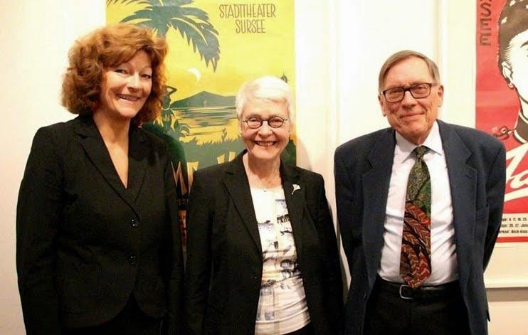 Klara Obermüller, Publizistin, und Gatte Kurt Studhalter, ehem. Redaktionsleiter Radio SRF mit Isabelle Ruf-Weber