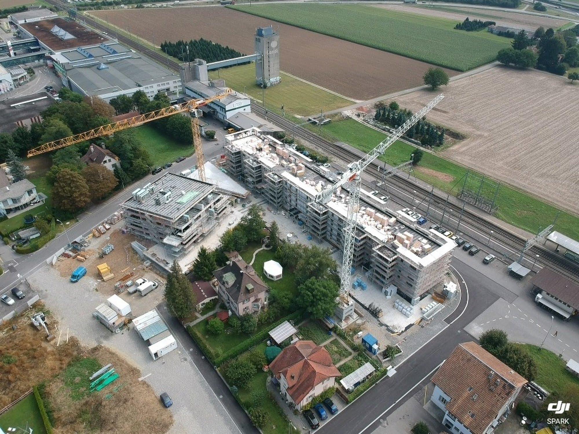 Überbauung Bahnhofpark - 1. Etappe