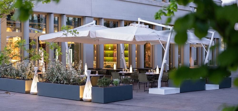 Das Restaurant Sapori's öffnet seine Terrasse